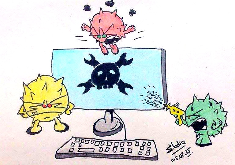 virus informatique dessin