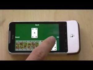 Jeu de belote sur smartphone