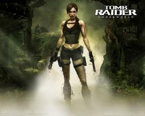 Lara CROFT dans le jeux TOMB RAIDER